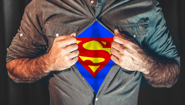 muž superhrdina