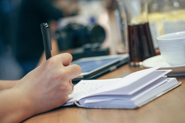 zapisování poznámek
